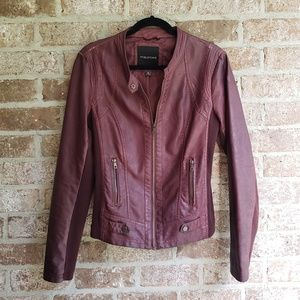 Maurices Maroon 'Leather' Jacket
